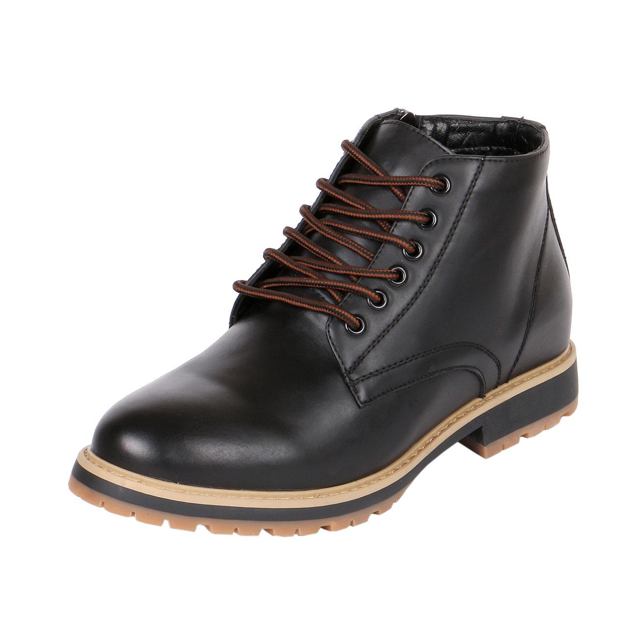 f7448b6cd10 Side Zipper Semi Dress Ankle Boots for Men with Hidden High Heels, TB7005