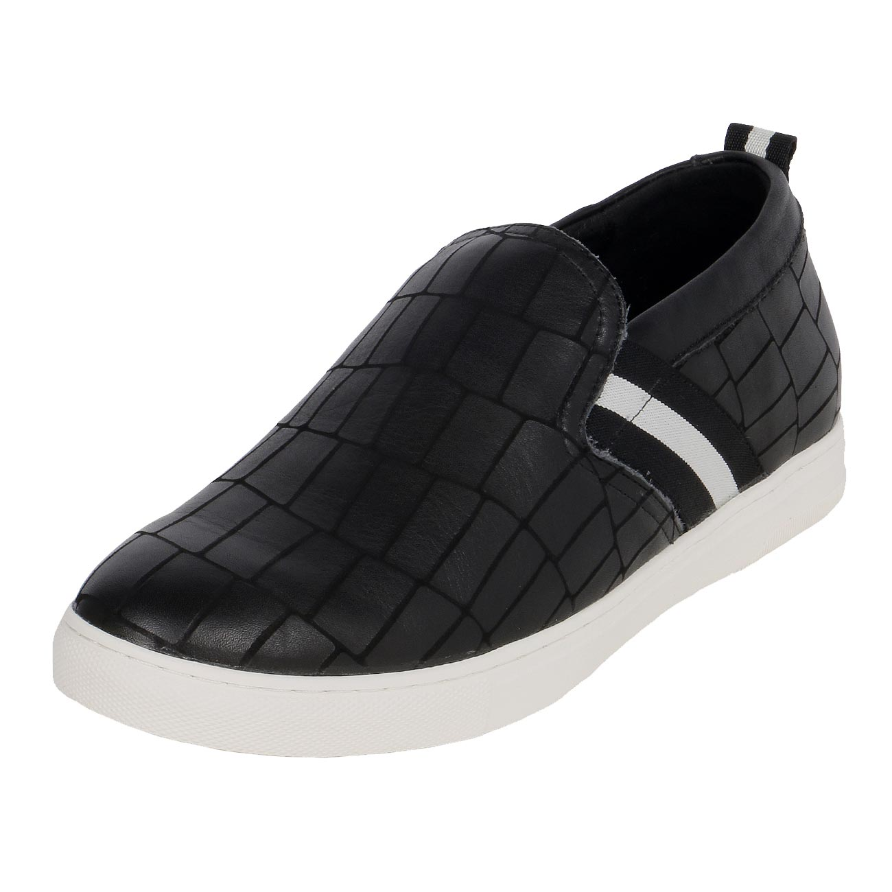 Leather Casual Slip-On Versatile Cool Style Shoe 2 inch Tall