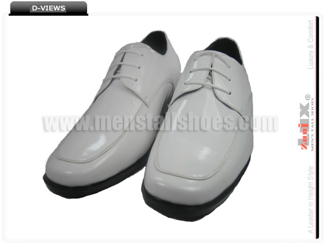 White elevator shoes formal