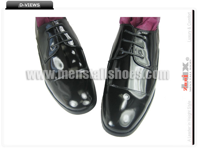 Elevator tuxedo shoes with lifts