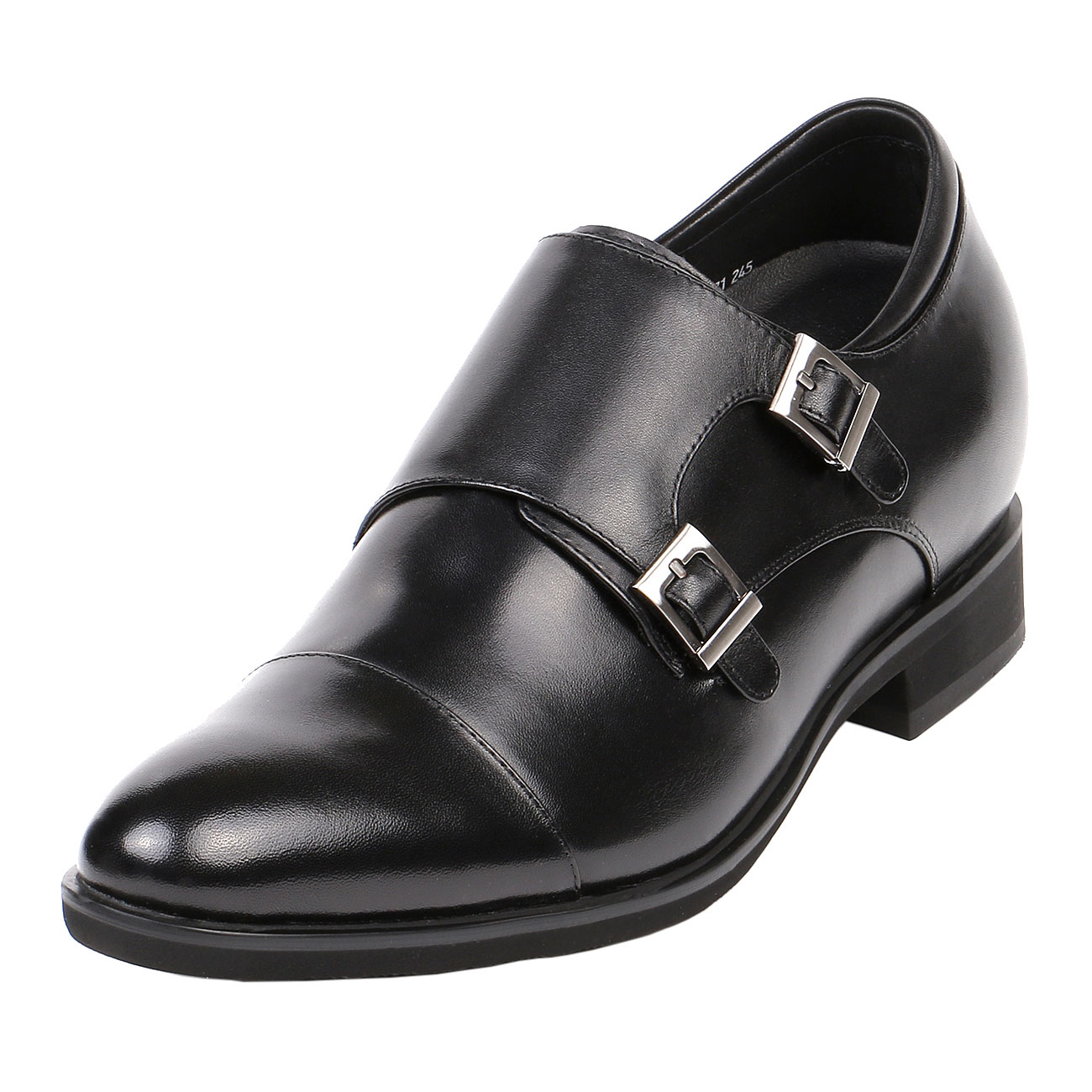 Monk Strap Dress Shoe Cap Toe 2.8