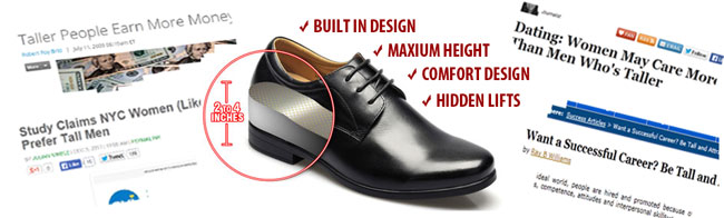 Tall shoes for men