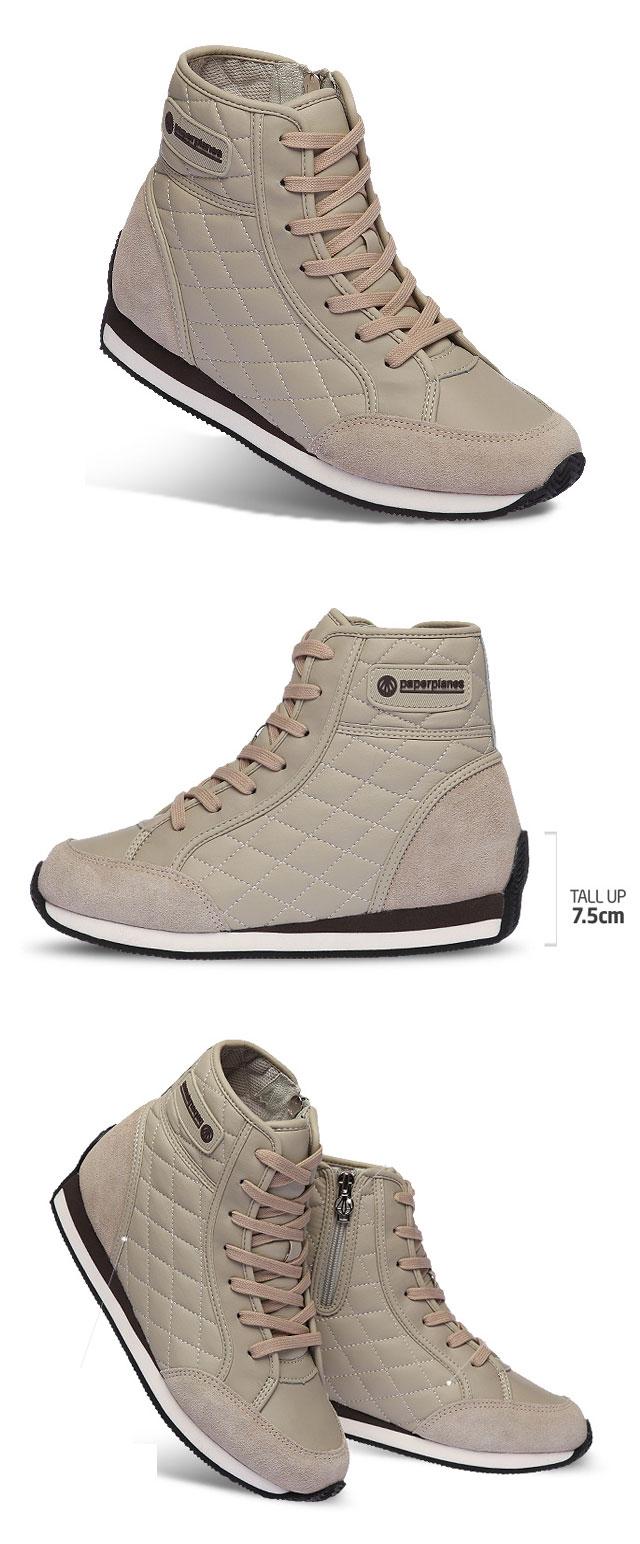 Height Increasing Women Fashion Sneakers High Top 2.8