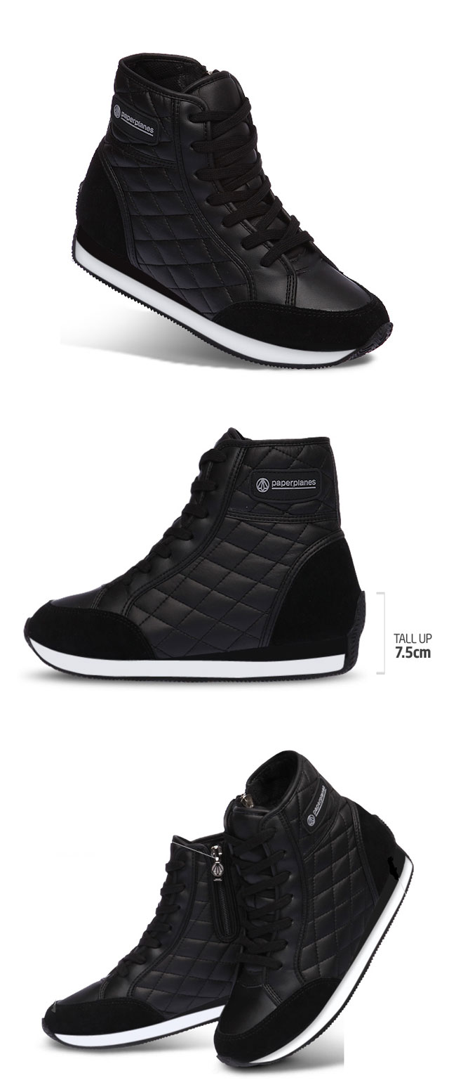 Height Elevator Women Fashion Sneakers High Top 2.8 Tall